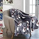 PAVILIA Christmas Snowman Throw Blanket | Grey Christmas Fleece Blanket | Soft, Plush, Warm Winter Cabin Throw, 50x60 (Grey Snowman)
