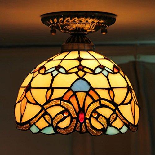 lampadario Tiffany 8-Inch barocco europeo Warm creativo Retro Cafe balcone luci navata laterale Luci da plafone Sala