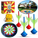ToyerZ Darts Great Outdoor Game. Yard Game for Kids and Family - 4 Lawn Darts for Children and Adults. Toss Game. Fun Backyard Family Games for Boys and Girls Outside Toys for Teens Party Gift Idea