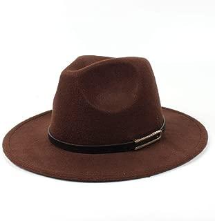 SHENTIANWEI Men Women Authentic Wool Fedora Hat Dance Party Hat Casual Wild Hat Panama Hat Size 56-58CM
