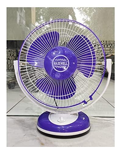 MAXWELL PLASTIC AP FAN 230mm 55-Watt High Speed Oscillating Table Fan, Blue-Design5
