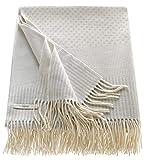 ESPRIT Blaiselle Plaid Decke Tagesdecke Kuscheldecke Wohndecke Couchdecke Sofadecke - Größe 150 x 180 cm - Farben grau/Melba