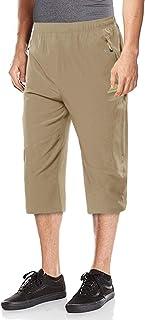 EKLENTSON Men's Capri Pants Quick Dry 3/4 Pants Below Knee Shorts Outdoor Camping Shorts with Zipper Pockets