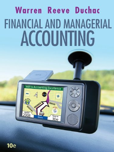 Study Guide, Chapters 1-15 for Warren/Reeve/Duchac's Corporate Financial Accounting, 10th and Financial & Managerial Acc
