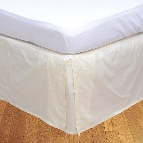 LaxLinens 200 fils/cm², 100% coton, finition élégante 1 jupe plissée de chute lit Longueur : 26 \