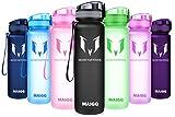 MAIGG Botella de Agua Deportiva - para Correr, Gimnasio, Yoga, Aire Libre y Camping-1000ml Gray