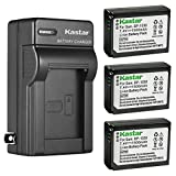 Kastar 3-Pack Battery and AC Wall Charger Replacement for Samsung BP-1030, BP-1130, ED-BP1030 Battery, Samsung NX200, NX210, NX300, NX300M, NX310, NX500, NX1000, NX1100, NX2000 Cameras