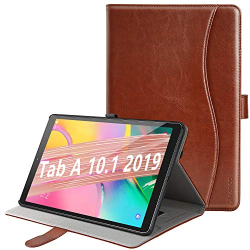 ZtotopCase Case for Samsung Galaxy Tab A 10.1 2019, Premium Leather Business Stand Folio Cover, for Samsung Galaxy Tab A 10.1 T510 / T515 2019 Tablet, Brown