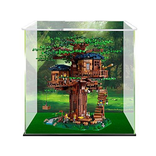 TopBau Professionell Acryl Vitrine Kompatibel mit Lego 21318 Ideas Baumhaus, Staubdicht Vitrine Bausteine Glas Schaukasten für Lego Bausteine Modell