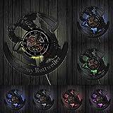 Reloj de Pared Amo el Reloj de Pared de Vinilo Rottweile, Reloj Moderno, Animales, Amante de los Perros, Cachorro, decoración de la Tienda, Regalo