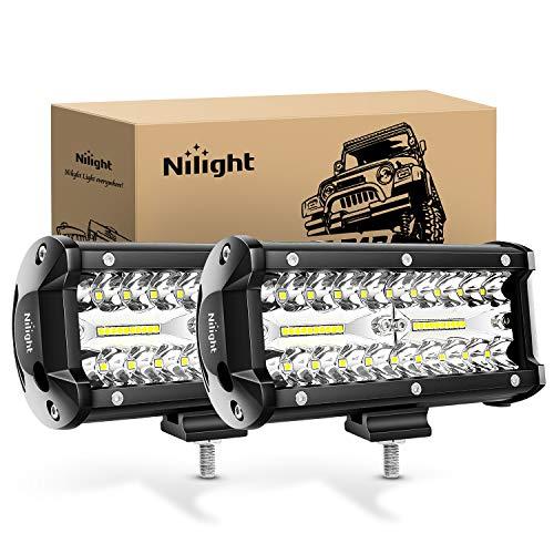 Nilight LED作業灯 デッキライト 120W作業灯 2個セット LED投光器 ワークライト投光器120w 12v-24v 兼用 ...