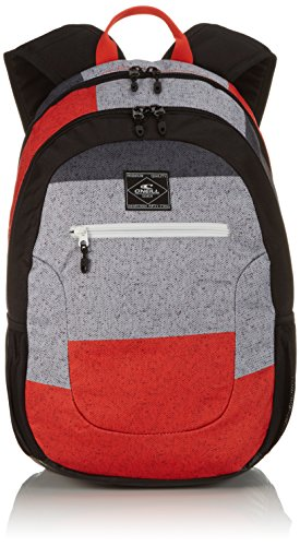 O'Neill Rucksack AC Ledge Backpack - Mochila Unisex, Color Multicolor (Black AOP Red), Talla 21 x 30 x 46 cm, 30 litros