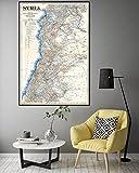 MG global Syrien Palästina Libanon Karte Syrien Vintage