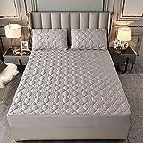 Protector de colchón Impermeable Acolchado tamaño Doble, sábana Ajustable Acolchada de Microfibra, cubrecolchón / cubrecolchón extraprofundo