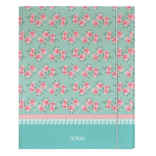 Ablagebox A4 XL strong Ladylike Roses mit Gummizug 11223872 von Herlitz