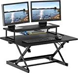 SHW 36-Inch Height Adjustable Standing Desk Sit to Stand Riser...