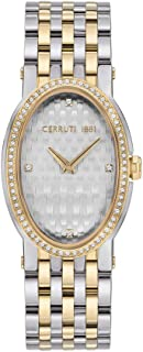 Cerruti 1881 Norcia II Analogue Silver And Gold Plated Case, Silver Dial And Silver And Gold Plated Stainless Steel Watch ...