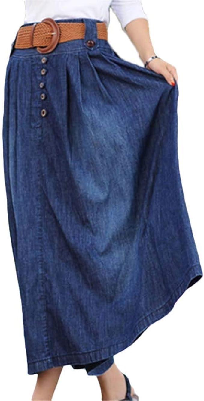 Mujer Faldas Falda Vaquera Elegantes Vintage Cintura Alta ...