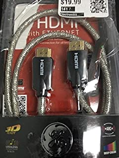 GE Ultra Pro Series High Speed 3' HDMI Cable with Ethernet (3ft, Clear) 24503