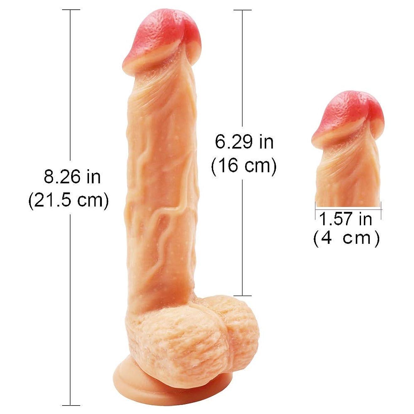 症状磨かれたラックYUQIUSHU 8.26インチ大規模なリアルなソフト防水シリコーンパーソナルリラックスマッサージツール用女性玩具 - 愛の道具 - 活気に満ちた玩具