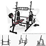 We R Sports Adjustable Weight Lifting Squat Rack Gym Bench Press Barbell Stand...
