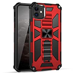 Compatible with iPhone 11 6.1 Inch 2019. High-quality: This iPhone 11 armor case is made of shockproof high grade TPU and PC materials. Meets Military Grade 810.1-G Compliancy. Certified to protect your phone. Kickstand Design: Built-in kickstand pro...