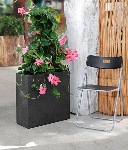 Lippert Raumteiler Pflanzkübel Kubus Kunststoff 60x26x60 cm (Anthrazit)