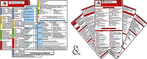 Schemata & Scores + Notfälle Kompakt Set (2in1 Karten-Set) - SSSS-Schema, ABCDE-Schema, Basics-Schema, IPAP-Schema, SAMPLER(!) S, FAST, OPQRST, PECH-Regel, 4Hs, HITS, KUSS