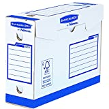 Fellowes Bankers Box - Caja de archivo definitivo extra resistente A4+, 100 mm, 20 unidades, color blanco y azul