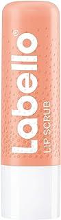 Labello Lip Scrub fragola + pesca (5,5 ml), cura delle labbra innovativa con particelle di scrub di origine naturale, peel...