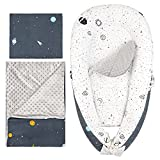 Luchild Baby Nest for Newborn and Babies, 5-Piece Set Baby Pod Cocoon Double Sided, Baby Bassinet for Bed/Lounger/Nest/Pod/Cot Bed/Sleeping