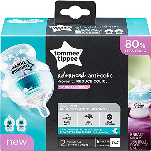 SRV Hub® 2X Tommee-Tippee Advanced Anti Colic 150ml Baby Bottle,...