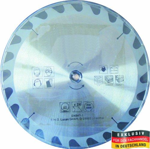 Masterproof Lame de scie circulaire en métal, 350 mm, 24 dents, trempé spécial pour table et circulaire