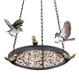 Kimdio Bird Feeder Hanging Tray, Seed Tray for Bird Feeders/Bird Bath, Outdoor Garden Backyard Decorative Great for Attracting Pet Hummingbird Feeder