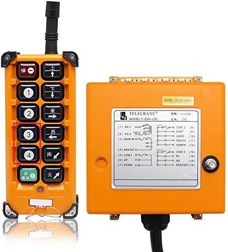 NEWTRY Mando Para Grua Mando a Distancia Inalámbrico Control Remoto de Grúa Industrial 380V F23-A++(1 Transmisores y 1 Receptor)