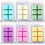 Calm Life Scented Soy Wax Cubes/Melts, Set of 6, 3 oz Each. Hand Poured Wax Infused with Essential Oils