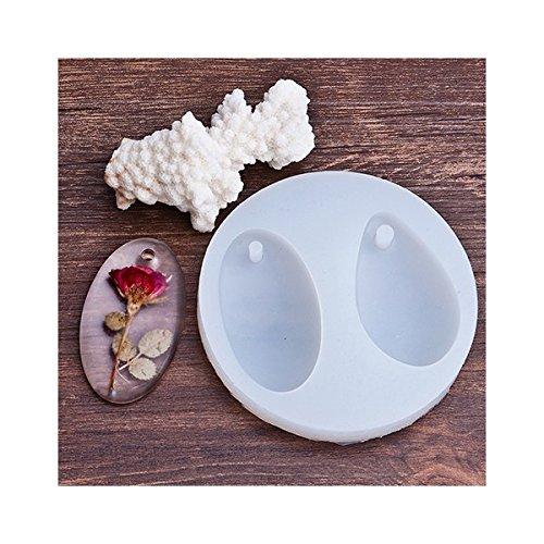 creafirm–Silikonform 2Anhänger Wassertropfen und ovale Form Kreationen Kunstharz Modelliermasse, ofenhärtend