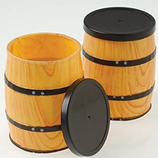 U.S. Toy Dozen Mini Western Theme Barrel Containers