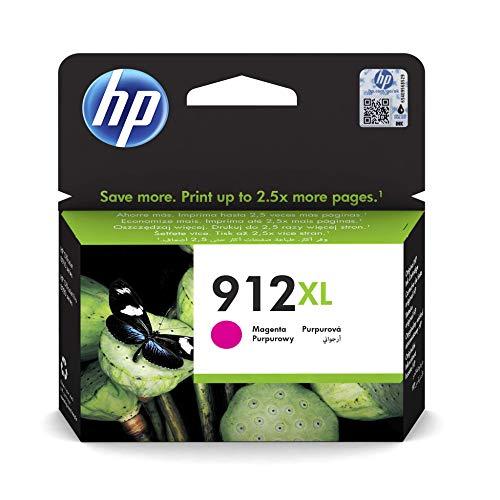 HP 912XL (3YL82AE) Original Druckerpatrone mit hoher Reichweite (für HP OfficeJet Pro 8010, HP OfficeJet Pro 8020) rot