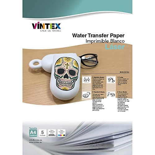 Water Transfer Paper - Láser (Blanco)
