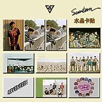 10ピース/セットKpopセブンティーンカードステッカーHDフォトプリントファンのための新しいアルバムギフトK-pop 17新しい到着