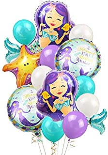 Mermaid Balloons Birthday Party Supplies Mermaid Mylar Balloons for Mermaid Under The Sea Birthday Party Baby Shower Decorations
