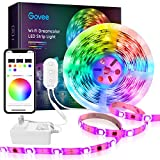 DreamColor LED Strip Lights, Govee 16.4ft RGBIC WiFi Wireless Smart Light Strip Works with Alexa Google Assistant App Control Room Bedroom Kitchen Outdoors Music Sync Waterproof (Not Support 5G WiFi)