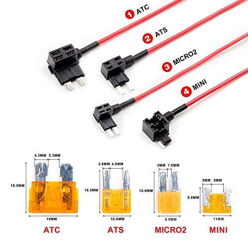 YUNIQUE DEUTSCHLAND 4 Stück Schaltung-Adaptersicherung für ATC-Sicherungen ATS MICRO2 Mini