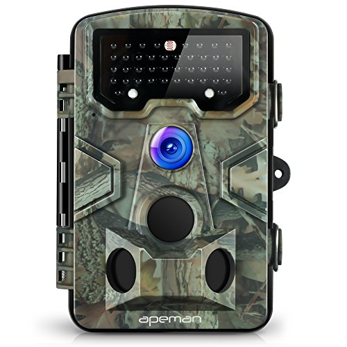 APEMAN Trail Camera 120° Wide Angle Detection Game Hunting Camera 12MP 1080P Wildlife Camera with...