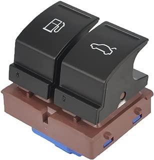 MonkeyJack Fuel Tank Trunk Release 2-Button Switch for VW Jetta Passat Golf CC Scirocco Touran EOS