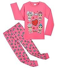 L.O.L. Surprise! Pijama Niña, Conjunto 2 Piezas Pijama Niña Invierno Largo de Las Muñecas LOL, Ropa Niña 100% Algodon, Regalos para Niñas Edad 4-10 Años (4-5 años)