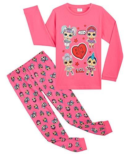 L.O.L. Surprise! Schlafanzug Mädchen, Süße Rosa Püppchen BFF Pyjama Set 4-10 Jahren, Baumwolle Winter Mädchen Nachtwäsche, Kleine Geschenke für Kinder (4-5 Jahre)