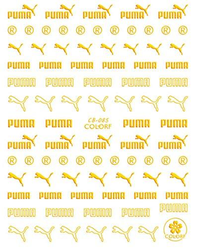 Künstliche Falsche Nägel Diy Gold Silber Sport Marke Logo 3D Nagelaufkleber Selbstklebende Diy Fantasy Charm Aufkleber Aufkleber Tipps Maniküre Nail Art Aufkleber-Cb-085 Gold