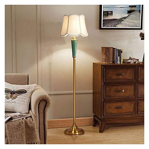 QQB Eye protection floor lamp Floor Lamp Vertical Ceramic Cloth Table Lamp Luxury Home Hotel Restaurant Lighting Decoration Living Room Bedroom Study Reading Lamp Equivalent grade【A++】
